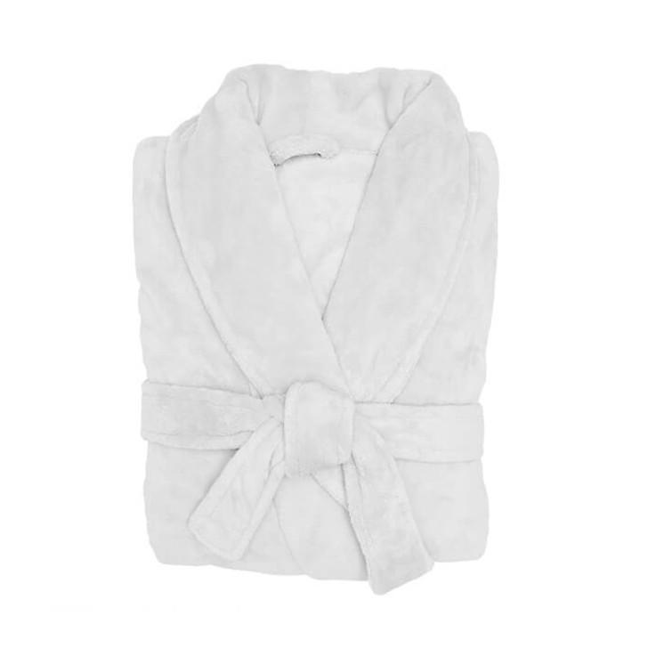Bambury Microplush Bathrobe White Medium / Large | My Linen