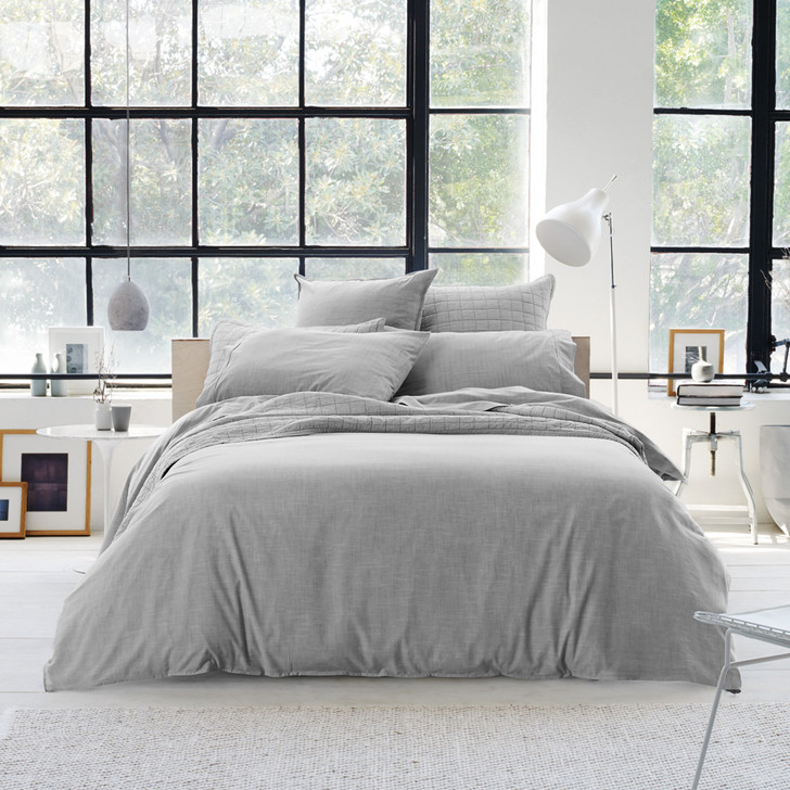 Sheridan Reilly Fog King Bed Quilt Cover Set | My Linen