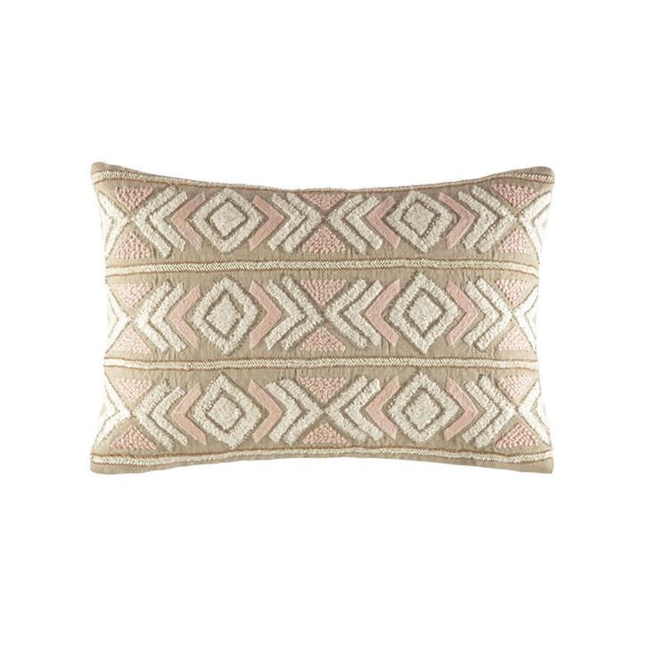 KAS Yasmin Blush Long Filled Cushion   My Linen