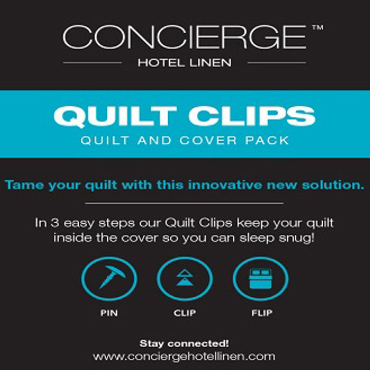 Concierge Quilt & Quilt Cover Securing Clips | My Linen