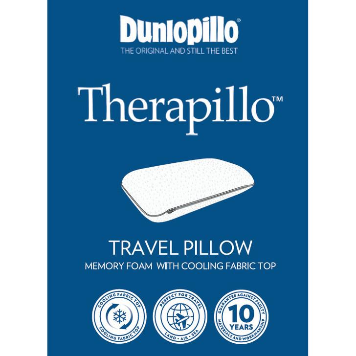 Dunlopillo Therapillo Memory Foam Travel Pillow | My Linen
