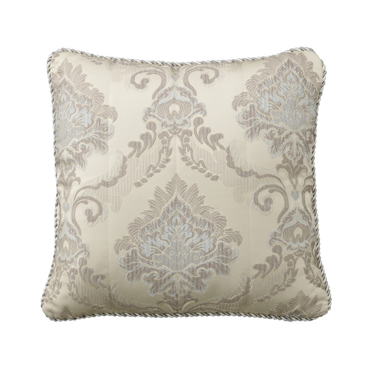 Bianca Dorset Taupe Square Filled Cushion   My Linen