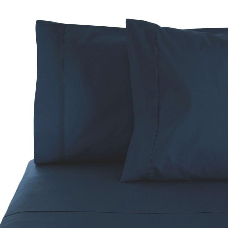 Jenny Mclean La Via Navy King Bed 50cm Sheet Set | My Linen