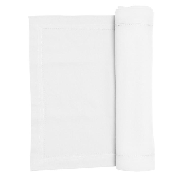 Rans Elegant Hemstitch Table Runner 135cm  White   My Linen