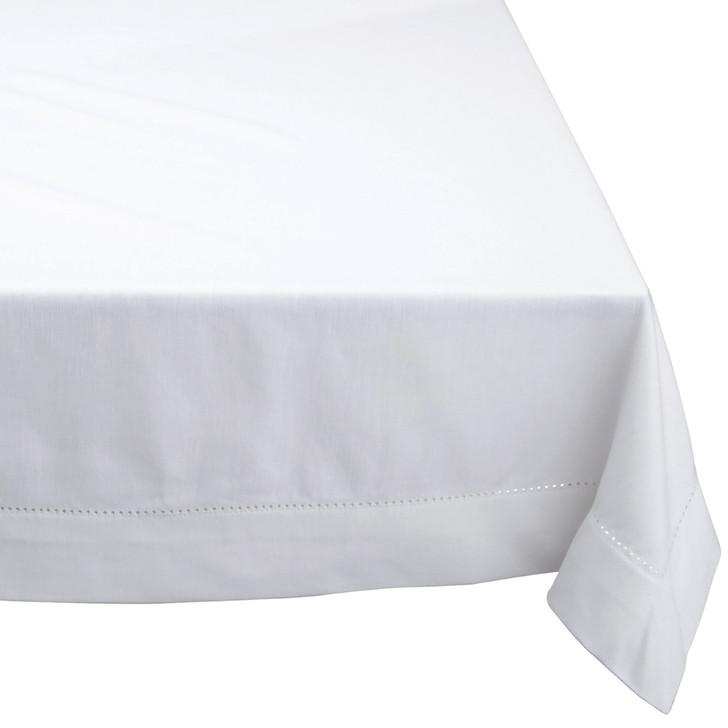 Rans Elegant Rectangle Tablecloth White   My Linen