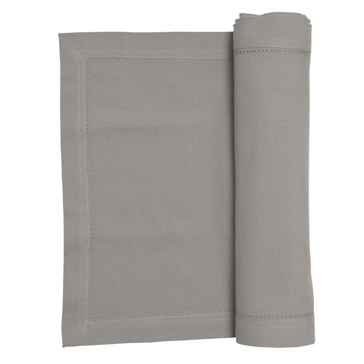 Rans Elegant Hemstitch Table Runner 135cm Grey   My Linen