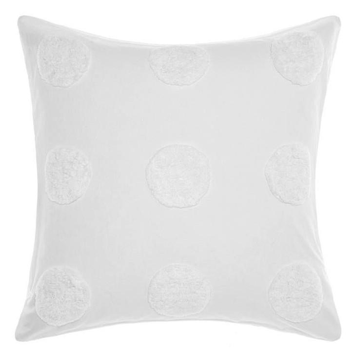 Linen House Haze White European Pillowcase   My Linen