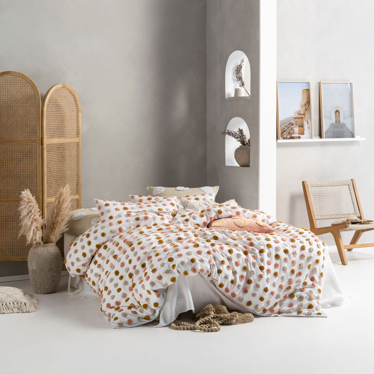 Linen House Haze Pink Sand Double Bed Quilt Cover Set | My Linen