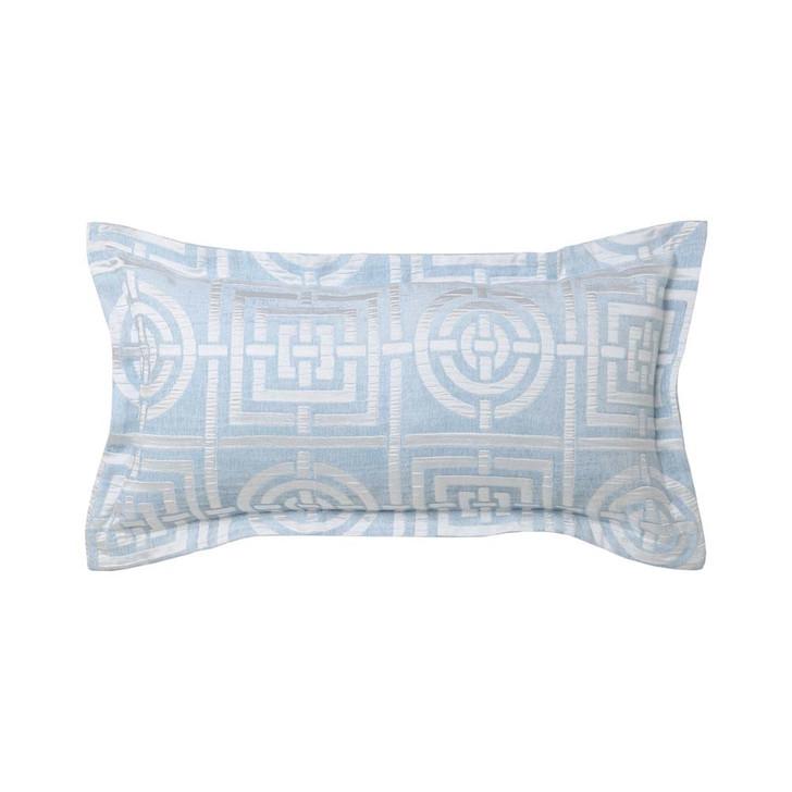 Florence Broadhurst Circles & Squares Sky Long Filled Cushion   My Linen