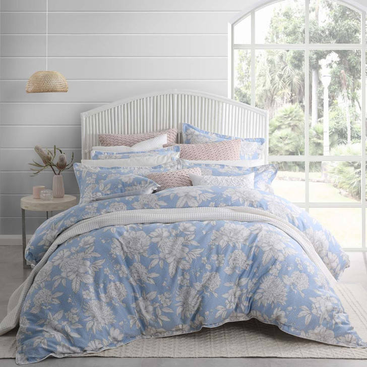 Private Collection Bennelong Sky Queen Bed Quilt Cover Set   My Linen