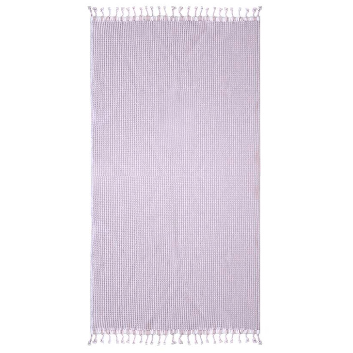 Bambury Lilac Waffle Beach Towel   My Linen