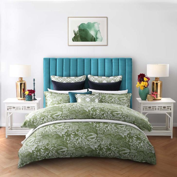 Florence Broadhurst Waterfall Garden Green Queen Bed Quilt Cover Set | My Linen