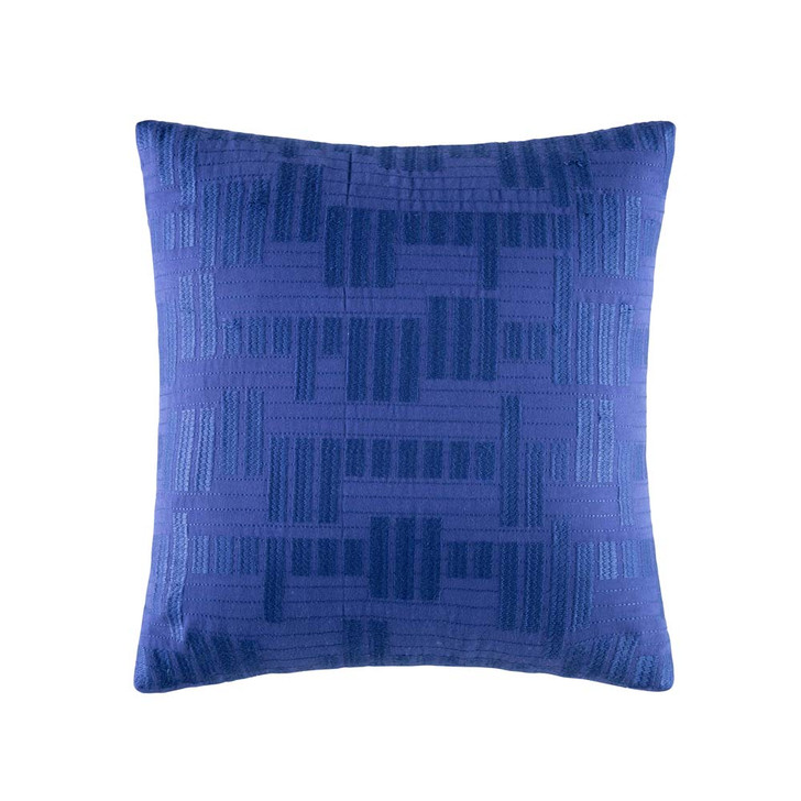 KAS Fallow Blue Square Filled Cushion | My Linen