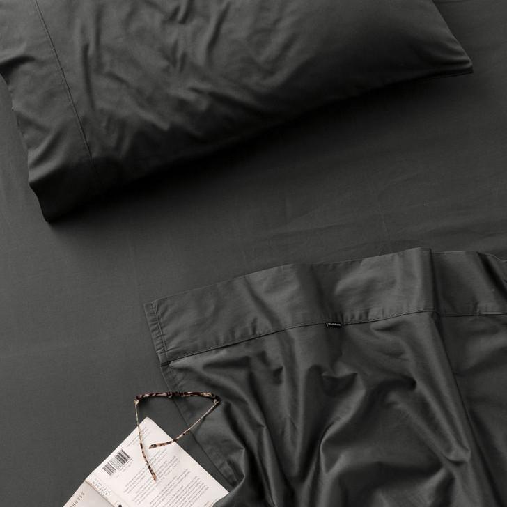 Linen House Augusta 100% Cotton Double Bed 50cm Sheet Set 500TC Magnet | My Linen