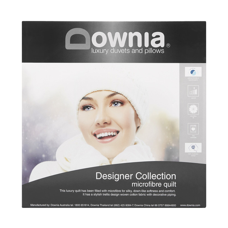 Downia Designer Collection Microfibre Quilt Super King Bed   My Linen