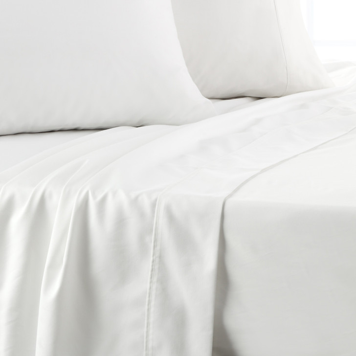 Platinum Logan and Mason 750TC Cotton King Bed Sheet Set White   My Linen