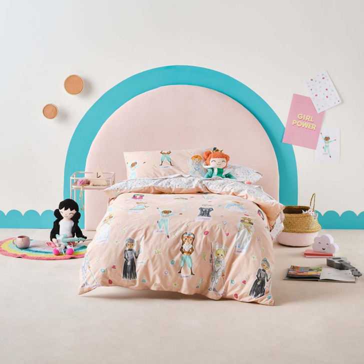 Hiccups You Go Girl Single Bed Quilt Cover Set   My Linen