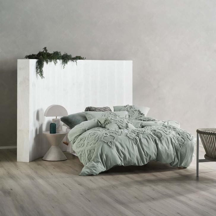 Linen House Alli Stillwater King Bed Quilt Cover Set   My Linen
