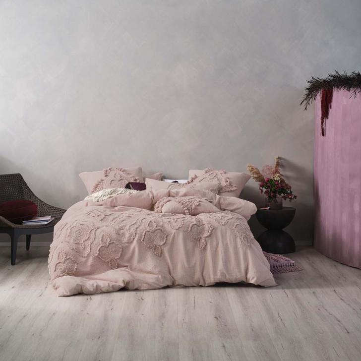 Linen House Alli Mauve King Bed Quilt Cover Set   My Linen
