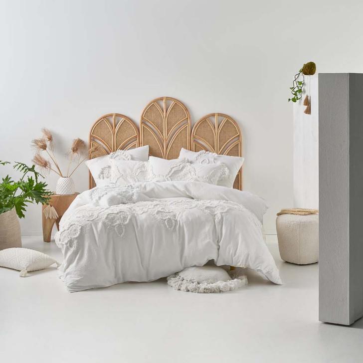Linen House Alli White Queen Bed Quilt Cover Set | My Linen