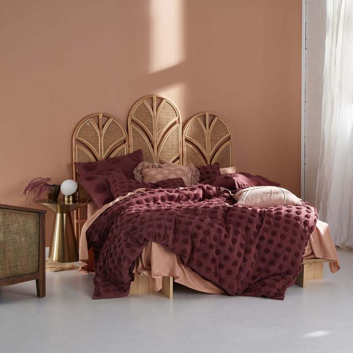 Linen House Haze Rhubarb Super King Quilt Cover Set | My Linen