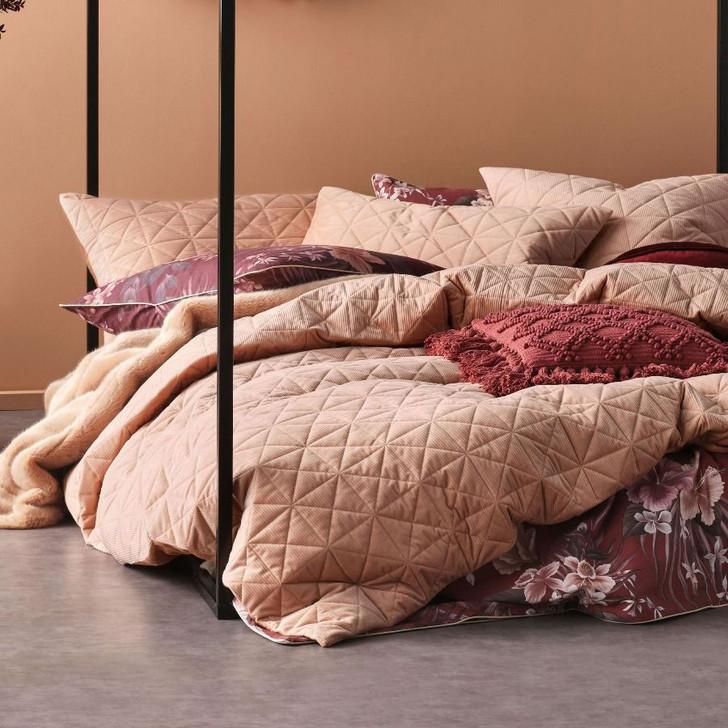 Linen House Heath Terracotta  Single Bed Quilt Cover Set | My Linen