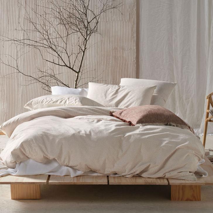 Linen House Napier Rust Double Bed Quilt Cover Set | My Linen