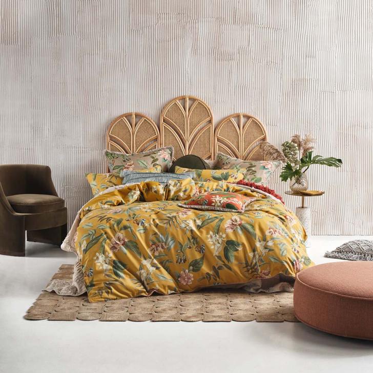 Linen House Anastacia Chai Double Bed Quilt Cover Set | My Linen