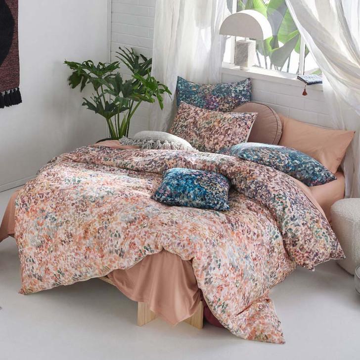 Linen House Prairie Teal Queen Bed Quilt Cover Set | My Linen