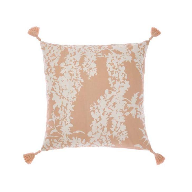Linen House Akiara Indigo Square Filled Cushion   My Linen