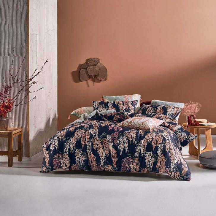 Linen House Akiara Indigo Double Bed Quilt Cover Set | My Linen