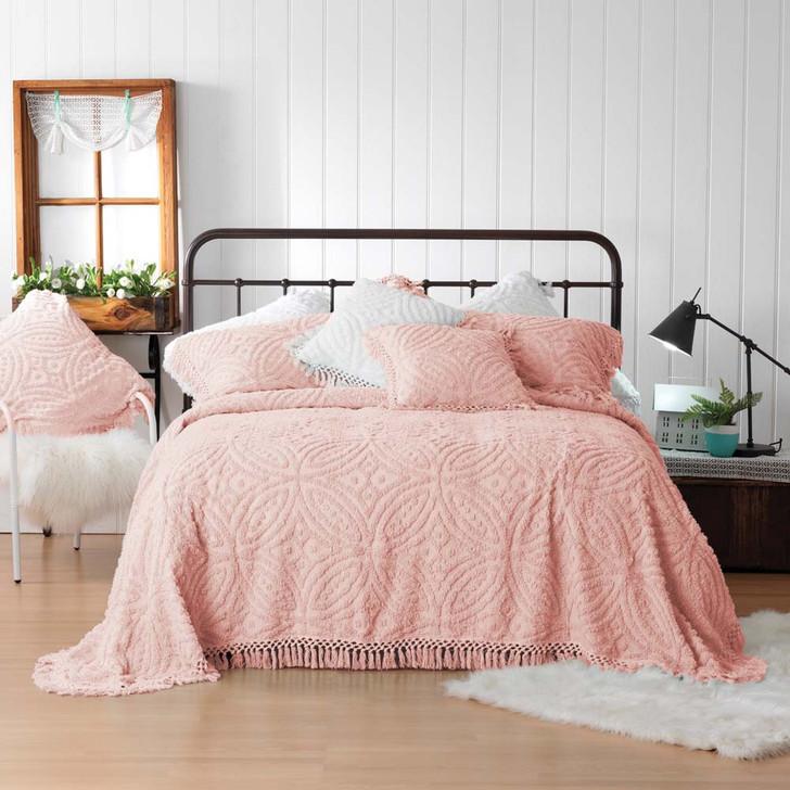 Bianca Kalia Pink Double Bed Bedspread Set | My Linen