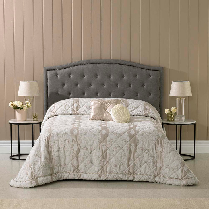 Bianca Aurora Oyster Double Bed Bedspread   My Linen