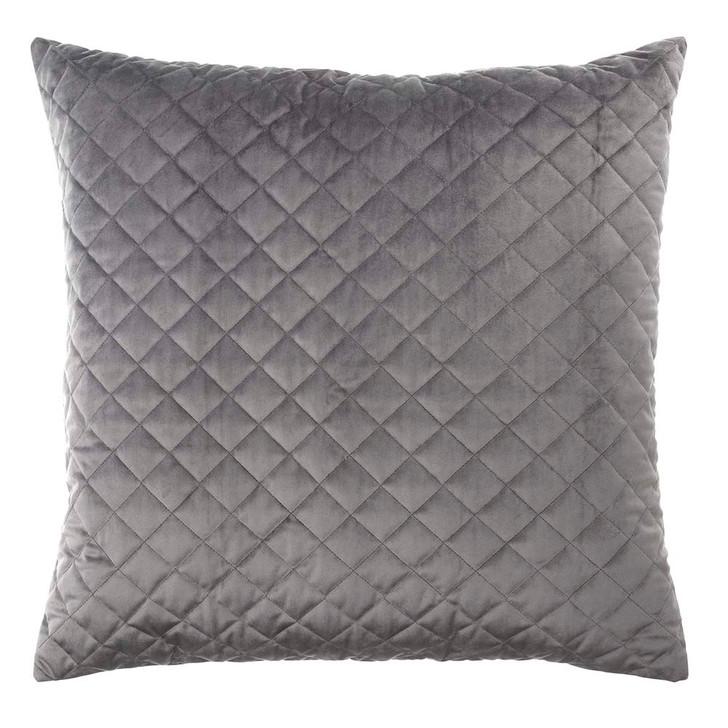 Bianca Vivid Grey Velvet European Pillowcase | My Linen