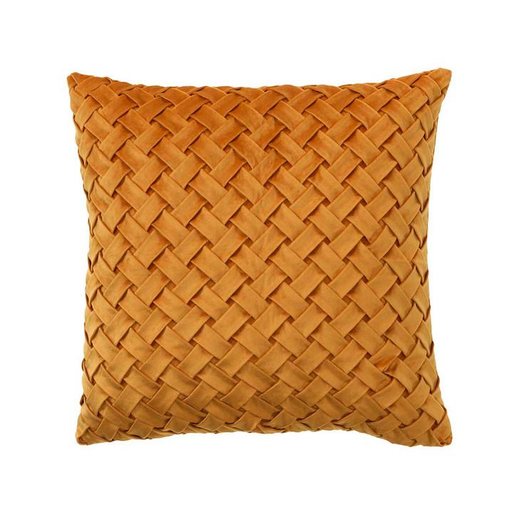 Bianca Venice Mustard Square Filled Cushion   My Linen