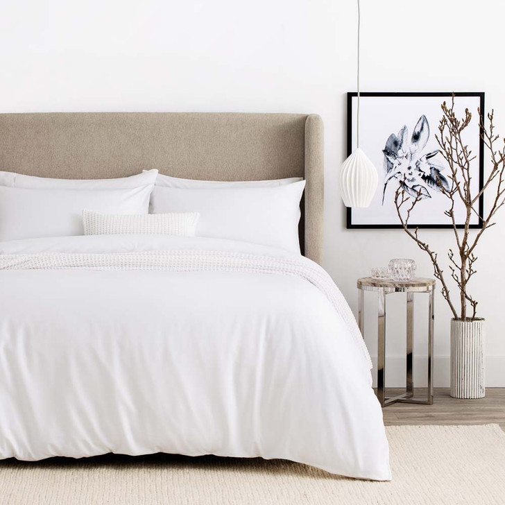 Sheridan Tencel and Cotton White King Bed Quilt Cover Set | My Linen