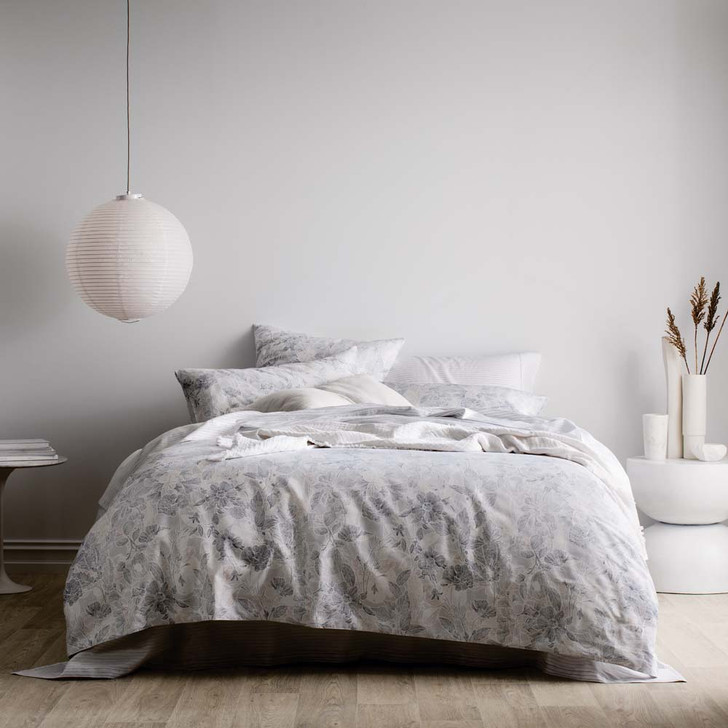 Sheridan Viana Glacier King Bed Quilt Cover Set   My Linen