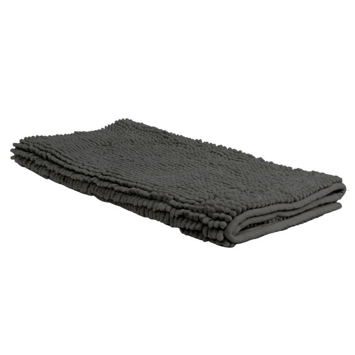 Algodon Toggle Large Bath Mat Charcoal | My Linen