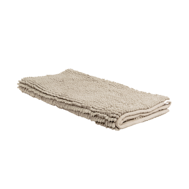 Algodon Toggle Small Bath Mat Stone   My Linen