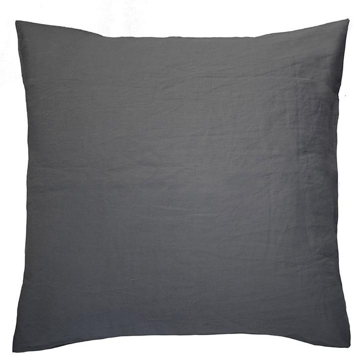 Bambury 100% Linen Charcoal European Pillowcase   My Linen