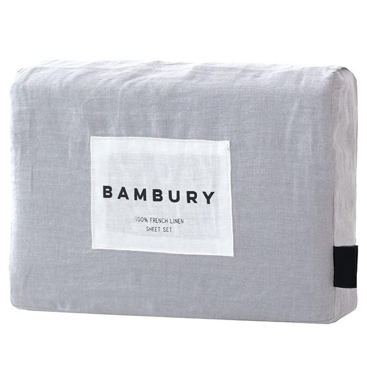 Bambury Silver 100% Linen Sheet Set
