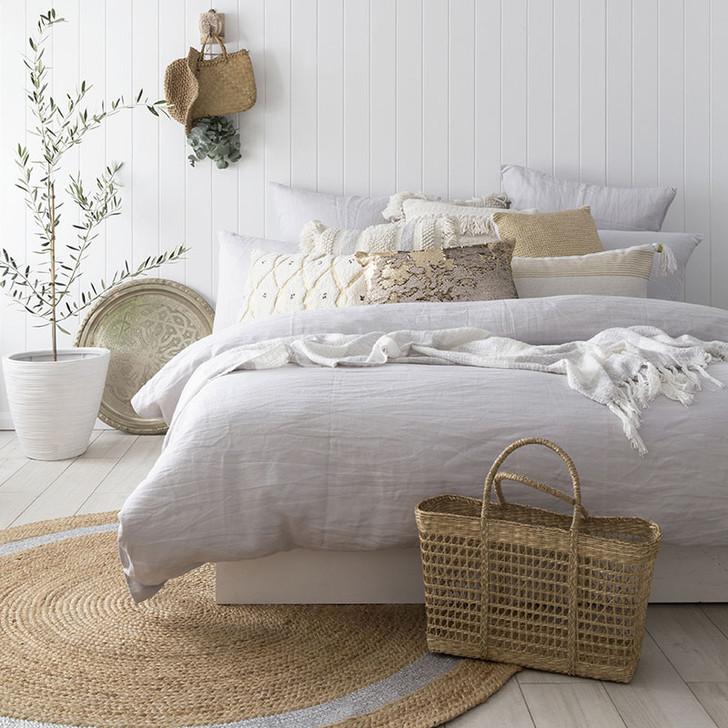 Bambury 100% Linen Silver Quilt Cover Set | My Linen