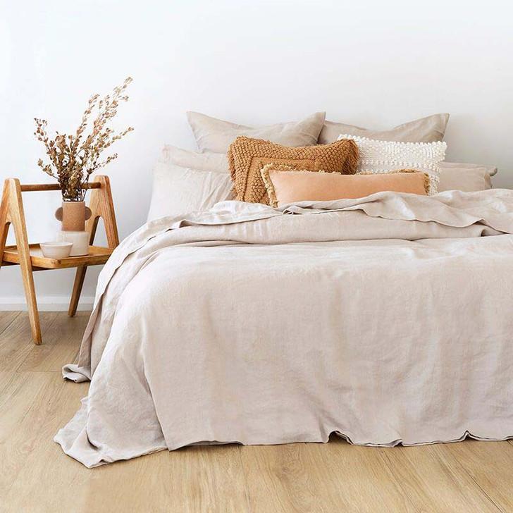 Bambury 100% Linen Pebble Super King Quilt Cover Set Lifestyle | My Linen