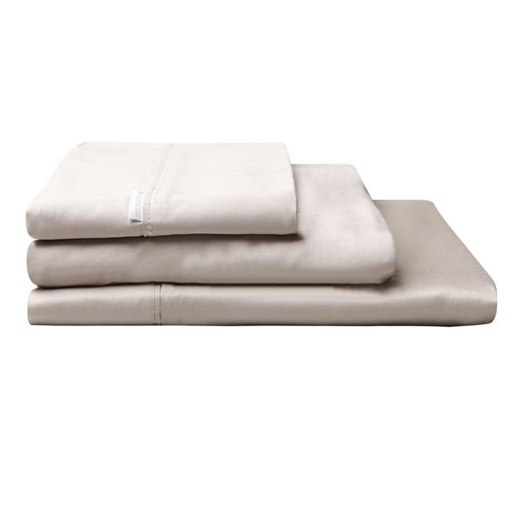 Logan and Mason Egyptian Cotton Sateen Long Single Bed Sheet Set Linen | My Linen