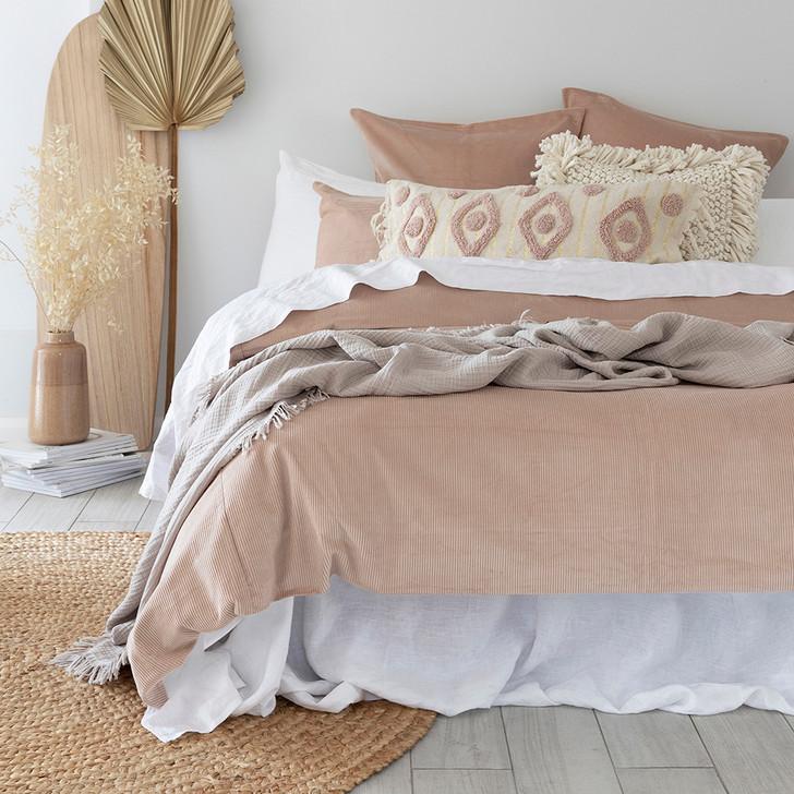 Bambury Sloane Shell Queen Bed Quilt Cover Set | My Linen