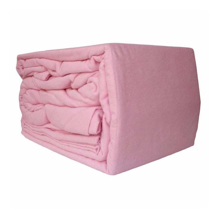 Ramesses 100% Egyptian Cotton Flannelette Queen 50cm Bed Sheet Set Pink | My Linen