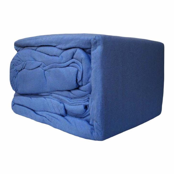 Ramesses 100% Egyptian Cotton Flannelette King 50cm Bed Sheet Set Denim | My Linen