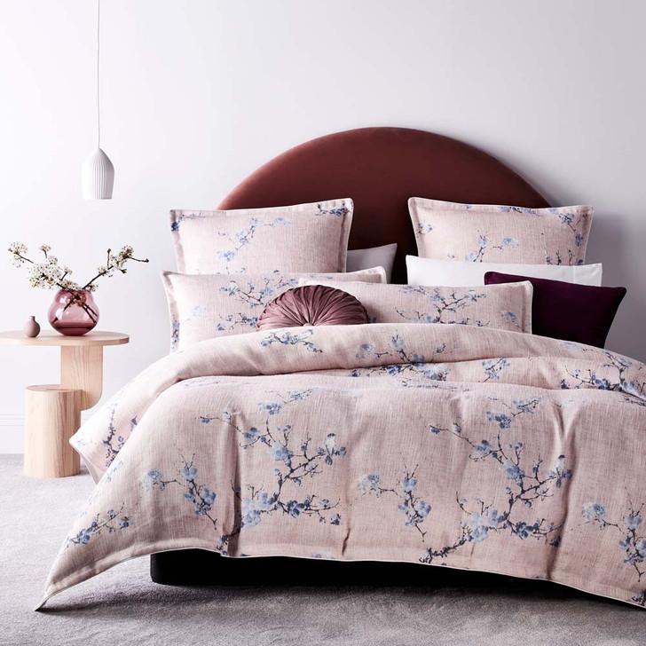 Platinum Logan and Mason Yumi Blossom King Bed Quilt Cover Set | My Linen