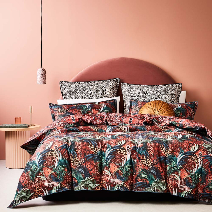 Logan and Mason Casablanca Red King Bed Quilt Cover Set | My Linen