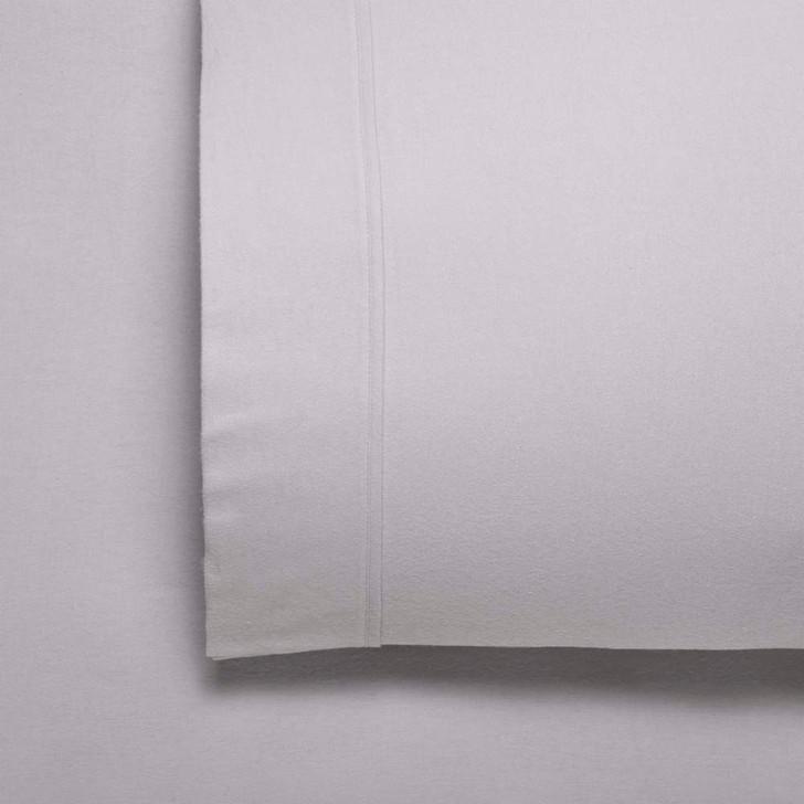 Bianca Fletcher Flannelette Single 50cm Bed Sheet Set Stone   My Linen
